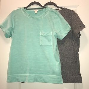 Grey & Mint/Teal short sleeve pocket shirts